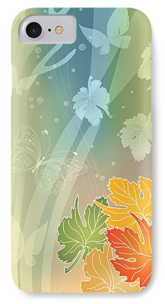 Autumn Leaves II Phone Case by Gayle Odsather