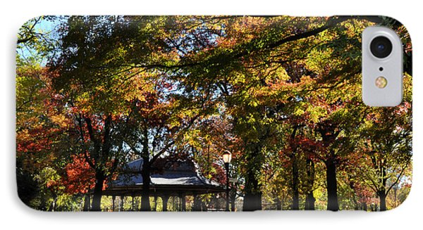 Autumn Leaves In Prospect Park IPhone Case by Diane Lent