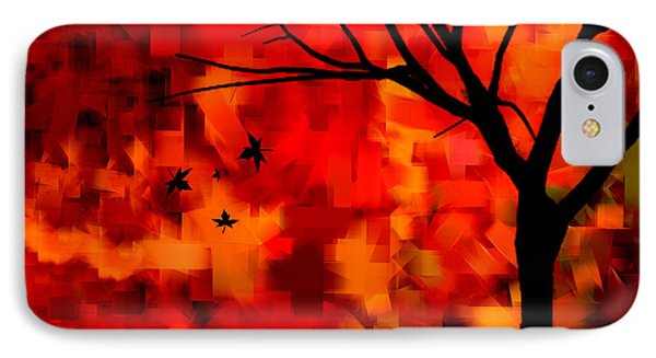 Autumn Leaves IPhone Case by Lourry Legarde