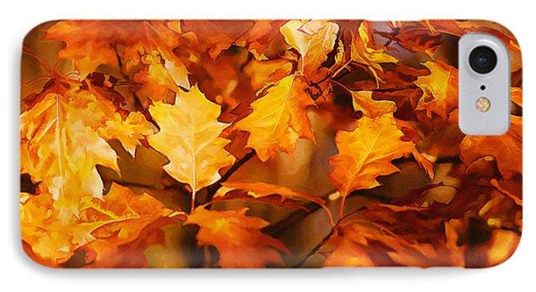 Autumn Leaves Oil Phone Case by Steve Harrington