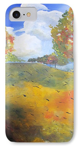 IPhone Case featuring the painting Autumn Leaves Panel 2 Of 2 by Gary Smith