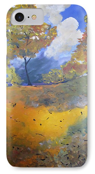 IPhone Case featuring the painting Autumn Leaves Panel1 Of 2 Panels by Gary Smith