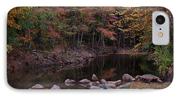 Autumn Leaves Reflecting In The Stream IPhone Case