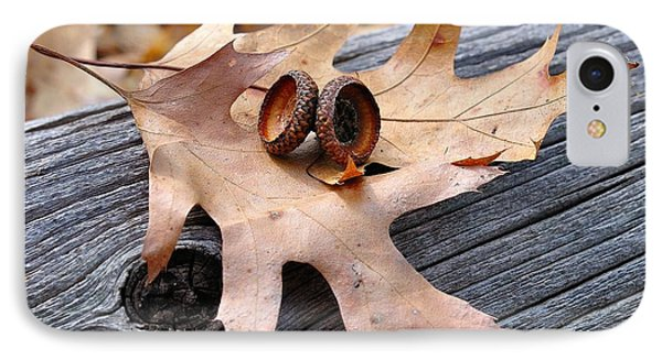 Autumn Leaves With Acorn Caps 003 IPhone Case by Todd Soderstrom