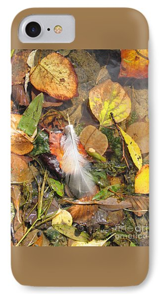 IPhone Case featuring the photograph Autumn Leavings by Ann Horn