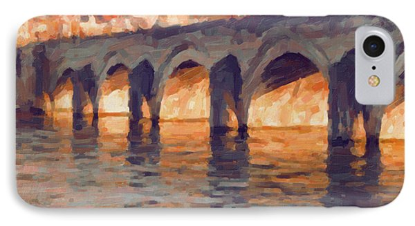 Autumn Light Through The Saint Servaas Bridge Maastricht IPhone Case