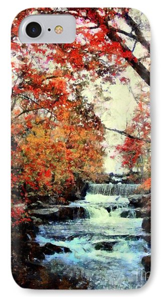 Autumn Mill Falls IPhone Case by Janine Riley