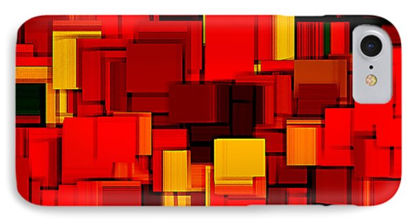 Autumn Modern Abstract Xv IPhone Case by Lourry Legarde