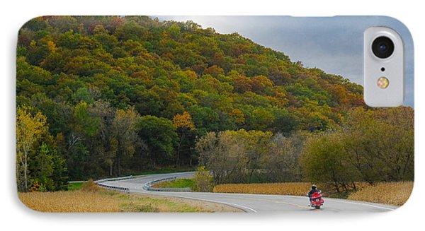 Autumn Motorcycle Rider / Orange IPhone Case