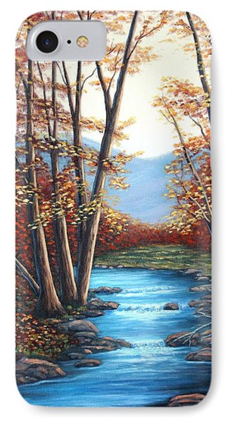 Autumn Mountain Stream  IPhone Case by Fran Brooks