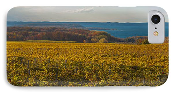 Autumn On Old Mission Peninsula Panoramic IPhone Case