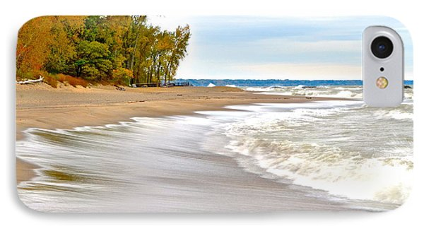 Autumn On The Beach IPhone Case by Frozen in Time Fine Art Photography