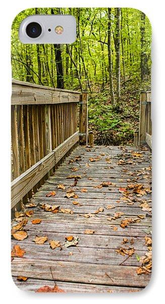 Autumn On The Bridge IPhone Case