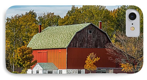 Autumn On The Farm IPhone Case by Paul Freidlund