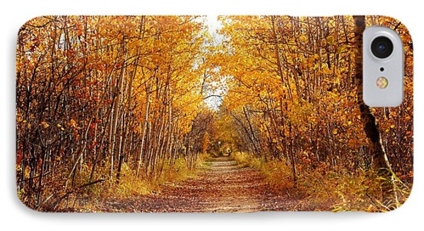 IPhone Case featuring the photograph Autumn On The Harte Trail by Larry Trupp