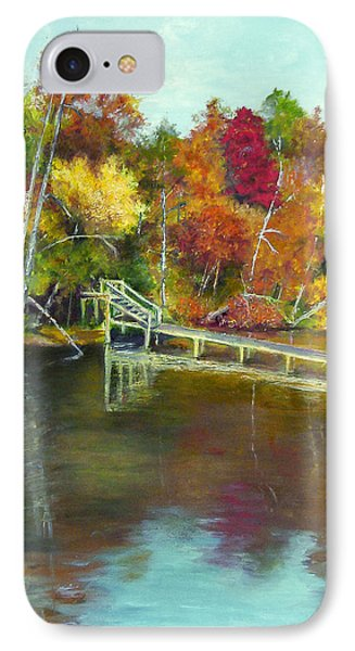 IPhone Case featuring the painting Autumn On The James by Sandra Nardone
