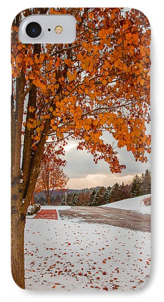 Autumn Or Winter IPhone Case by April Reppucci