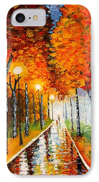 Autumn Park Night Lights Palette Knife Phone Case by Georgeta  Blanaru