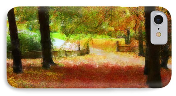 Autumn Park With Trees Of Beech IPhone Case by Tommytechno Sweden