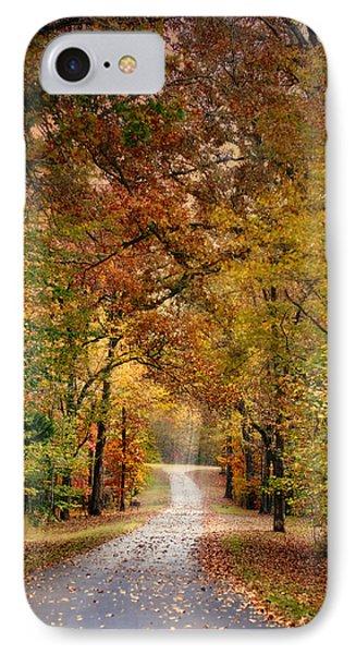 Autumn Passage 4 - Fall Landscape Scene IPhone Case by Jai Johnson