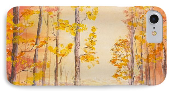 Autumn Path IPhone Case by Cathy Long