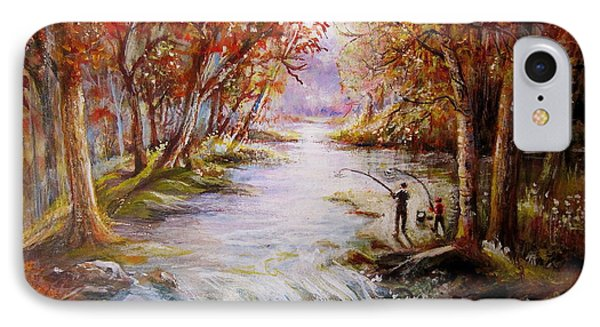 IPhone Case featuring the painting Autumn Peace by Patricia Schneider Mitchell