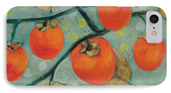 Autumn Persimmons Phone Case by Jen Norton