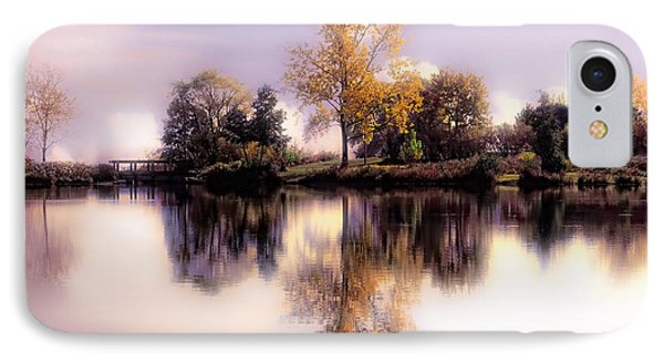 Autumn Pond IPhone Case by Elaine Manley