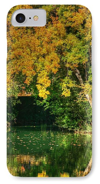 Autumn Pond IPhone Case by Ester  Rogers