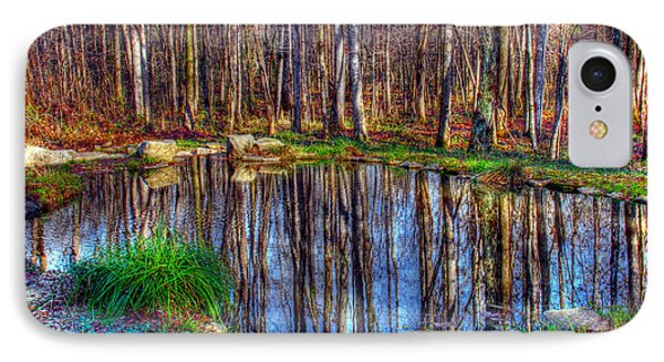 Autumn Pond Reflections IPhone Case by Andy Lawless