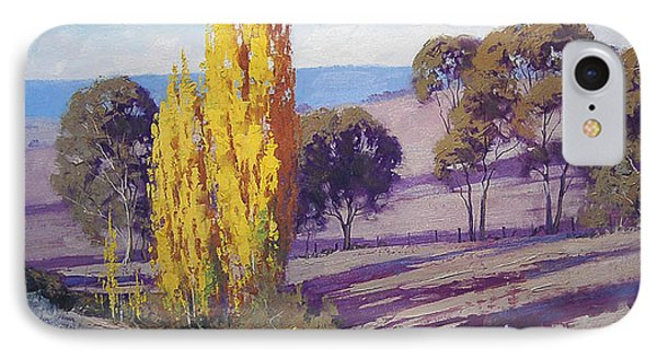 Autumn Poplars IPhone Case by Graham Gercken