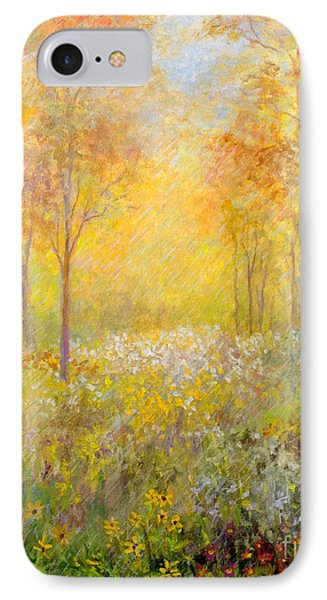 IPhone Case featuring the painting Autumn Rain by Lou Ann Bagnall
