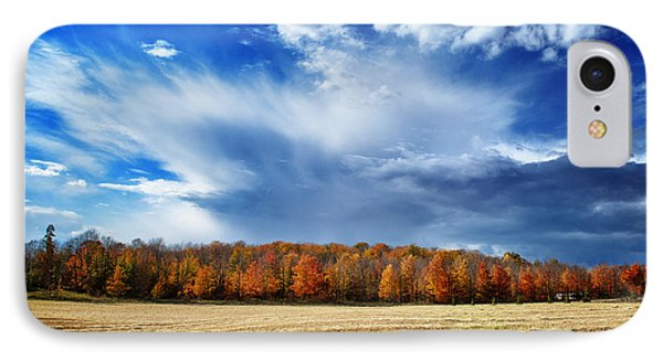 IPhone Case featuring the photograph Autumn Rain Over Door County by Mark David Zahn