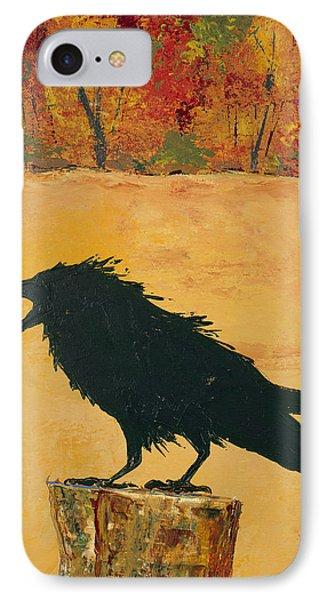 Autumn Raven IPhone Case by Carolyn Doe