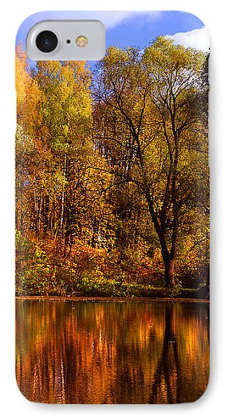 Autumn Reflections IPhone Case by Jenny Rainbow