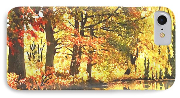 IPhone Case featuring the painting Autumn Reflections by Sophia Schmierer