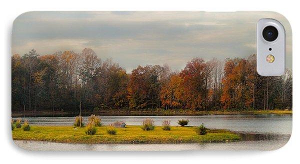 Autumn Rising At The Duck Pond - Autumn Scene IPhone Case