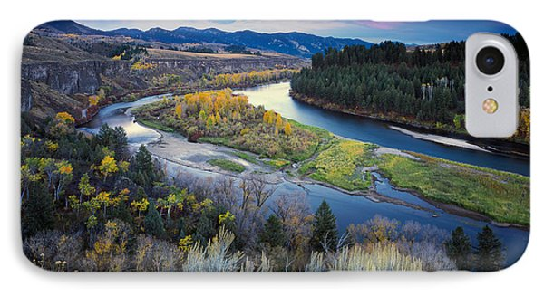 Autumn River IPhone Case by Leland D Howard
