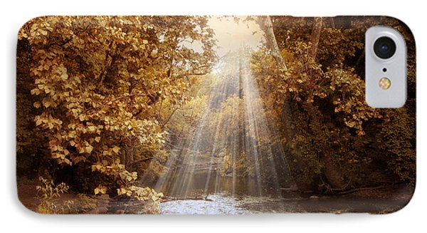 IPhone Case featuring the photograph Autumn River Light by Jessica Jenney