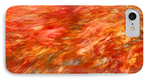 IPhone Case featuring the photograph Autumn River Of Flame by Jeff Folger