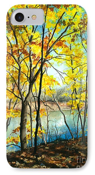 Autumn River Walk IPhone Case by Barbara Jewell