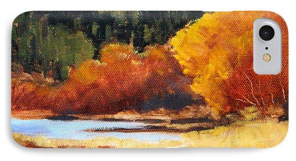 Autumn Riverside IPhone Case by Nancy Merkle