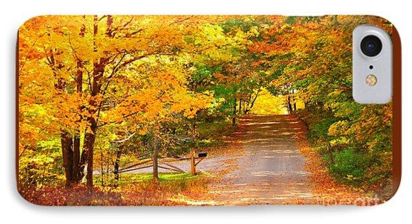 Autumn Road Home Phone Case by Terri Gostola