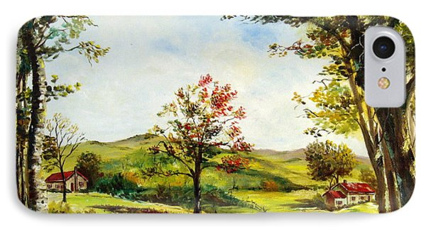 IPhone Case featuring the painting Autumn Road by Lee Piper