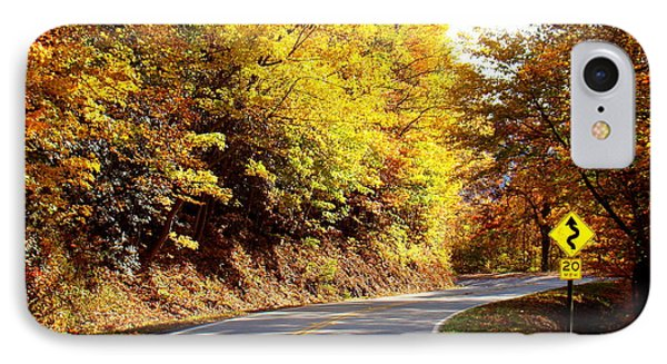 Autumn Road IPhone Case by Mary Koval