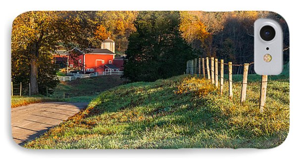 Autumn Road Morning Phone Case by Bill Wakeley
