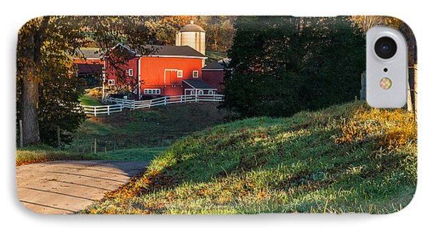 Autumn Road Morning Square Phone Case by Bill Wakeley