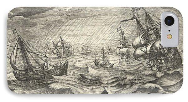 Autumn, Robert De Baudous IPhone Case by Robert De Baudous And Cornelis Claesz. Van Wieringen And Johannes Janssonius