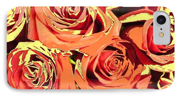 IPhone Case featuring the photograph Autumn Roses On Your Wall by Joseph Baril