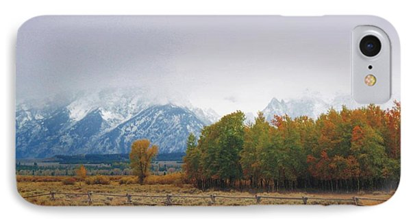 Autumn Snow In The Tetons IPhone Case